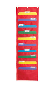 Chair Storage Pocket Chart Carson Dellosa Publishing Hanging File Storage Pocket Chart Red