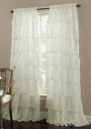 gypsy ruffled curtains cream