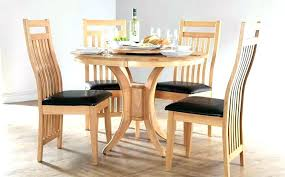 dark wooden dining table round wood dining table set dining table with white chairs round wooden