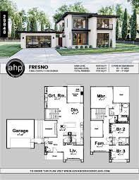 2 story modern style house plans