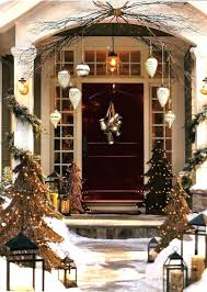 Front Door Garland Around Image Of Decorations Ideas Lighted