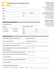 Basic Job Application Job Application Form Free Download Image Collections Standard Form 23