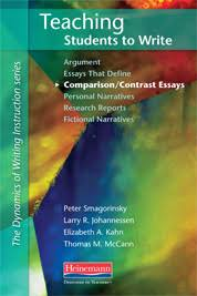 teaching students to write comparison contrast essays by peter  teaching students to write comparison contrast essays