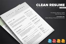 Clean Resume Template Vol 3 Resume Templates Creative Market