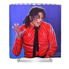 Michael Jackson Shower Curtain featuring the painting 2 by Paul Meijering for Sale
