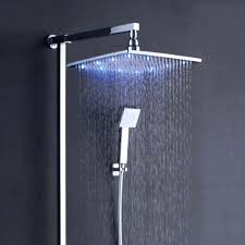 shower heads rain shower head led set with hand held reviews
