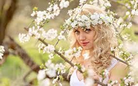 Beautiful Girl Flowers Wallpaper 44556 ...