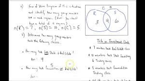 Examples Of Venn Diagram Word Problems Set Theory Basic Part 3 Using Venn Diagrams In Word Problems _part 1