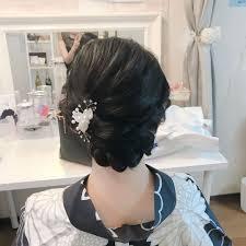 Moriyama Mamiさんのヘアスタイル 会社パーティーに浴衣で