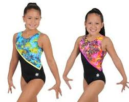 Details About New Darling Gymnastics Leotard By Snowflake Designs Blue Or Pink