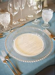 clear beaded charger with circle inset charger plates can make or break a decorated table