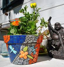 Small Picture 731 best MOSAIC FLOWER POTS images on Pinterest Mosaic vase