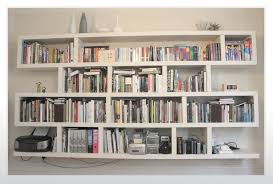 ... Wall Units, Remarkable Wall To Wall Bookshelves Bookshelf Wall Divider  White Floating Wooden Cabinet With ...