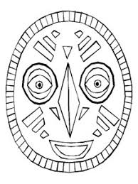 de2348f2bb2363e737aed7aea63e76f7 african mask template *print in landscape for adult size and on safari masks printable