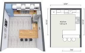 kitchen flooring design idea roomsketcher 2d and 3d floor plans