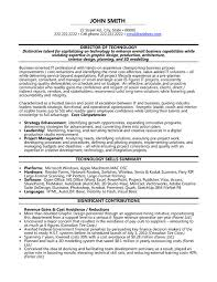 Technology Skills On Resumes Director Technology Resume Sample Template