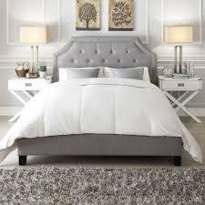 upholstered bed grey. HomeSullivan Monarch Grey King Upholstered Bed G