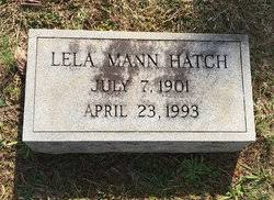 Lela Mann Hatch (1901-1993) - Find A Grave Memorial