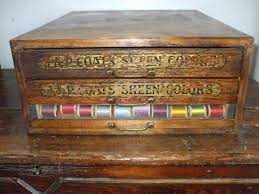 Dmc Thread Cabinet Antique Carlson Currier Thread Display Cabinet 5 Drawers New