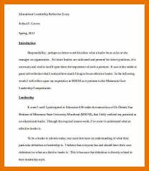 leadership essay example bibliography apa leadership essay example sample educational leadership essay jpg