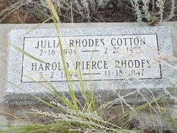 Julia Rhodes Jeram Cotton (1904-1953) - Find A Grave Memorial