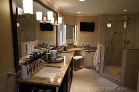 double sink vanity with makeup table. master bathroom design with a double sink vanity and built-in make up table makeup i