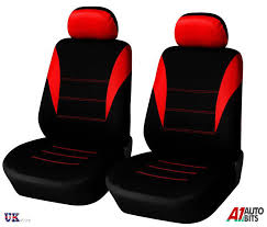 1 1 universal red black front seat covers car van motorhome bus mpv truck new
