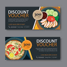 Food Voucher Template Custom Discount Voucher Template With Thai Food Flat Design Royalty Free