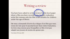 writing a review evaluative writing french vce text types writing a review evaluative writing french vce text types