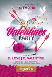 Valentines Flyers Pink Black Valentines Day Party Flyer