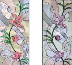 tiffany design pattern stained glass window panel