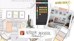 Sketchbook Pro Interior Design Autodesk Sketchbook On Ipad Pro Tutorial Sketch A Space With Me