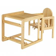 wooden high chair converts to table and chair wooden