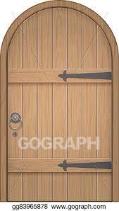 wooden door clipart. Delighful Door Old Wooden Arch Door To Wooden Door Clipart R