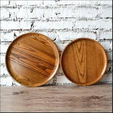 round wood serving tray diameter original wooden trays tea food for cutlery dark round wood serving tray