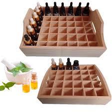 Essential Oil Display Stand Inspiration Aliexpress Buy Essential Oil Wooden Storage Box Tray Case 32