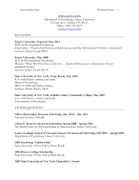 Cover Letter Psychology Resume Samples Psychology Major Resume