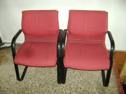 office chair waiting room red burdy black upholstered