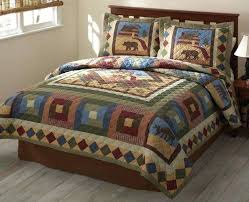 Log Cabin Style Quilts Log Cabin Quilt Patterns For Beginners Log ... & Log Cabin Style Quilts A Perfect Gift For Dads Hunting Cabin Timber Trails  Hunting Cabin Rustic ... Adamdwight.com