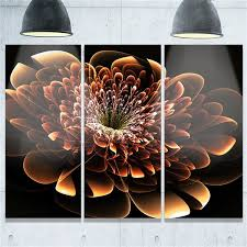 designart canada brown fractal flower