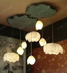 diy ceiling lighting. wholesale nimi160 creative diy art resin lotus lamps ceiling light for restaurant penthouse living room hallway stairs hanging lighting diy
