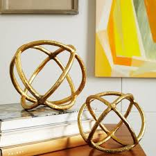 Decorative Metal Balls Sculptural Spheres West Elm 25