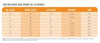 Kids Shoe Size Chart Inches How To Find The Youth Equivalent Of Womens Shoe Sizes