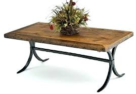 iron coffee table base stunning 9 creative wood metal on home throughout round