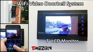 """<b>TMEZON WiFi Video</b> Doorbell Intercom System w/ 7"""" LCD <b>Monitor</b> ..."""