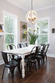 farm table with metal chairs supreme thedailyqshow decorating ideas 5