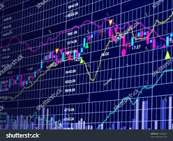 3d Stock Chart Blue Background Stock Chart 3d Stock Image Download Now
