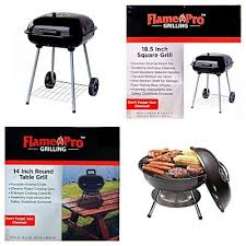 portable charcoal grill bbq barbecue cooking camping flame pro grilling new