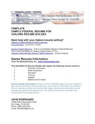 Government Resume Template Government Resume Template Federale Example For Program Analyst 91