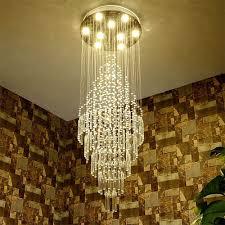 Us 14382 49 Offluxus Duplex Bodentreppe Rotierenden Langen Kristall Kronleuchter Moderne Kreative Wohnzimmer Lampe Villa Halle Lobby Projekt